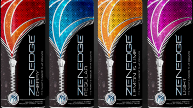 Zenedge Premium Energy Drink Product Labels